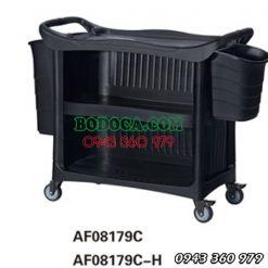 Xe Đẩy Đồ Ăn 3 Tầng Bằng Nhựa AF08179C