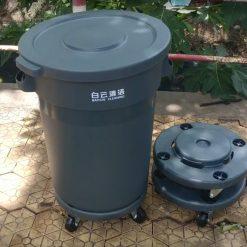 Thùng rác tròn nhà bếp có bánh xe AF07501