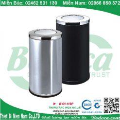 Bán thùng rác tròn inox YH-49 giá rẻ tại Hà Nội