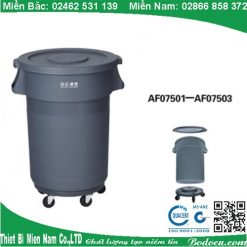 Thùng rác tròn bánh xe AF07502