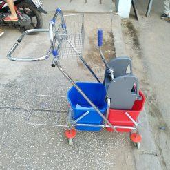 Xe đẩy ép vắt nước lau nhà 2 xô AF08087