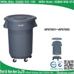 Thùng Rác Nhựa Tròn 168 Lít
